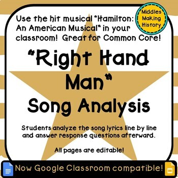 Hamilton in the Classroom: Right Hand Man Song Analysis