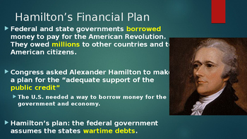 Hamilton's economic plan and the formation of political parites
