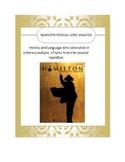 Hamilton the Musical Lyric Analysis