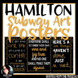 Hamilton the Musical Subway Art Posters Quotes from the musical!