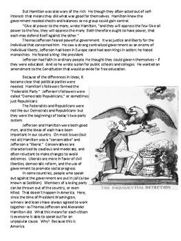 Hamilton v. Jefferson Worksheet