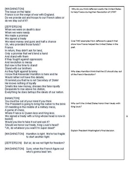 Hamilton vs. Jefferson - Comparison Chart and Hamilton lyric analysis
