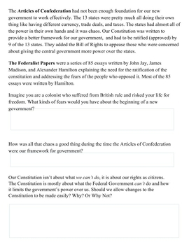 Hamilton vs. Jefferson: Google Classroom Interactive Lesson
