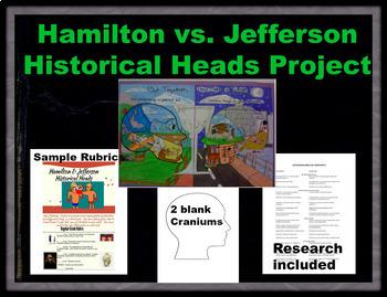 Hamilton vs. Jefferson Historical Heads Project