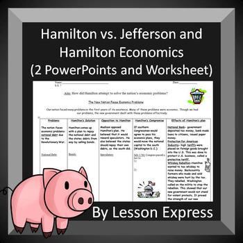 Hamilton Vs Jefferson And Hamilton Economics By Lessonexpress Tpt