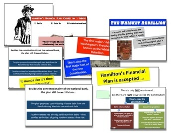 Hamilton's Financial Plan, the DC Compromise, and the Whiskey Rebellion!