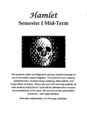 Hamlet - 100 Question Test (for Scantron)