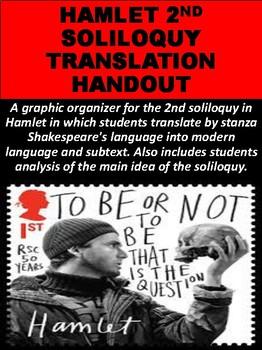 """""""Hamlet"""" 2nd Soliloquy Translation Handout"""