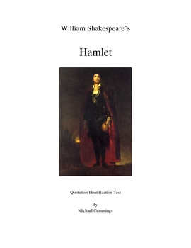Hamlet  Two Tests and a 40 Quotations Identification Test
