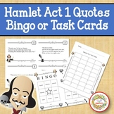 Hamlet Act 1 Quotes Bingo Game and Task Cards