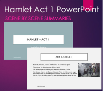 Hamlet Act 1 PPT Scene By Scene Summary Bullets