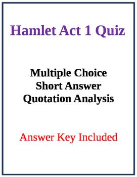 Hamlet Act 1 Quiz