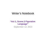 Hamlet  Act 1, Scene 2 Figurative Language