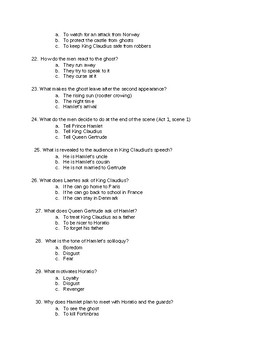 Hamlet Act 1 Test