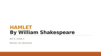 IR Hamlet Act 2 Scene 1 - Use of characterization -  Hamlet's change lesson