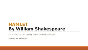 IR Hamlet Act 2 Scene 2 - Analyzing and evaluating soliloquy