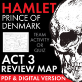 Hamlet Act 3 Character Map Review Activity for Shakespeare's Play