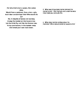 Hamlet Act 3.3-4 Analysis