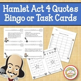 Hamlet Act 4 Quotes Bingo Game and Task Cards