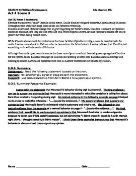 IR Hamlet Act 4 Scene 5 - SOS summary