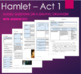 Hamlet Act 1, 2, 3, 4 & 5- Guided Questions Bundle Unit Plan with Answer Key