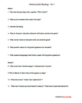 Hamlet Act I Guided Reading Questions