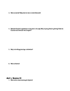 Hamlet Act I Study Guide