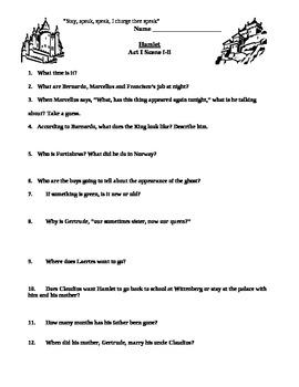 Hamlet Act I questions