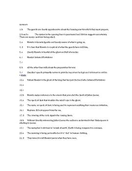 Hamlet Act I scene i quiz (& answers)