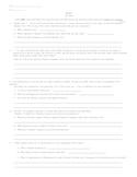 Hamlet - Act III Quiz/Test