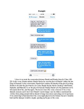 Hamlet Act III Text Message Activity