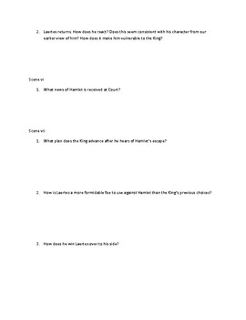 Hamlet Act IV Questions
