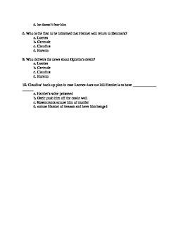 Hamlet Act IV Quiz