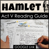 Hamlet Act 5 Questions and Activities