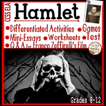 HAMLET Activity Pack: Mini-Essays, Worksheets, RTI, Film Q&A, Games, M.C. Test