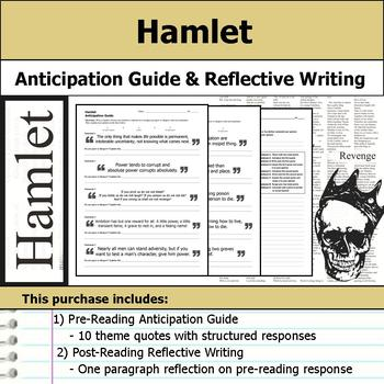 Hamlet - Anticipation Guide & Post Reading Writing