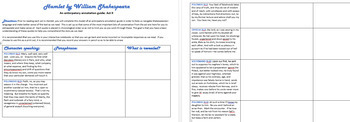 Hamlet Anticipatory Guides Acts I-V BUNDLE