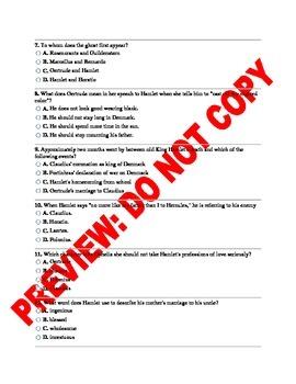 Hamlet 6 Assessment Bundle