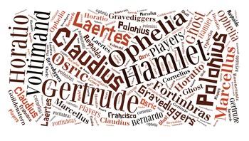 Hamlet Character Cloud