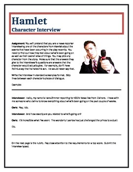 Hamlet - Character Interview writing assignment