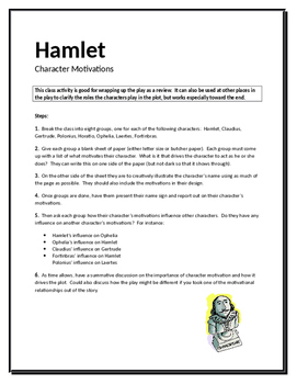 Hamlet Character Motivations