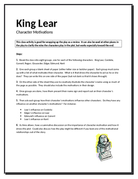 King Lear Character Motivations