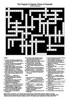 Hamlet - Characters, Locations and Quotations Crossword Puzzle