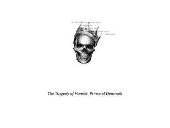 Hamlet Characters Powerpoint