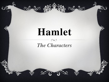 Hamlet - Characters introduction - matches the 2009 BBC version