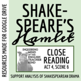 Hamlet Close Reading Analysis of Act 4 Scene 6 for Google Drive