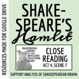 Hamlet Close Reading Analysis of Act 4 Scene 7 for Google Drive