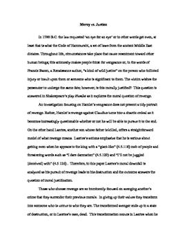 Hamlet College Essay on Revenge