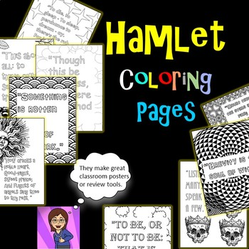 Hamlet Coloring Pages: Mini Posters