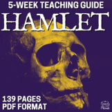 Hamlet Teaching Guide, Unit of Study with Lessons PACKET | DISTANCE LEARNING